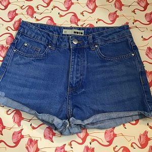 Top Shop Moto High Waist Shorts